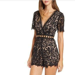 Lace romper, ASTR worn once.